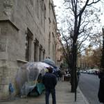 なんだか雨で寒々しいバレンシアの旧市街。