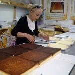 チーズケーキ屋さん。普通のチーズケーキ以外にもブルーベリー入りやら、チョコレートチーズケーキやらたくさんありました