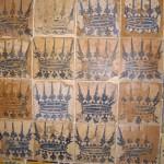 ボルジア家の紋章。当時の貴重なタイルが保存されています。