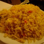 Arroz Specialと呼ばれる色々混ざったご飯。