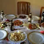 豪華な前菜。でも昨日と違ってクララちゃん仕様の子供も食べられる前菜!