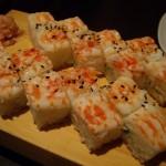 海老の押し寿司。