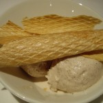 シナモンのアイスクリーム。完璧なジェラートでおいしかった。