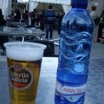 パートナー君は、Estrella Galicia(エストレジャ・ガリシア)というビールを。1.50ユーロ。
