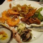 激マズの寿司はパートナー君の皿へ移動。