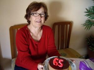 El Parisienのヘーゼルナッツチョコレートムースケーキ。