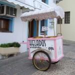 かわいいアイスクリーム屋さん。