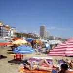 ビーチは2つあって、こちらはホテルがたくさん建っている大きなビーチの方。