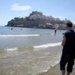 お城の向こう側が、わたしたちのホテルのあった小さいビーチ。