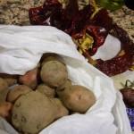おじさんが作った小さなジャガイモ。