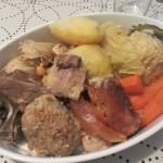 肉と野菜。