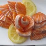 こちらは刺身。レモンコンフィを沿えて。