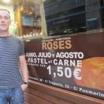 毎日Pastel Murcianoを1.50ユーロで売っているそうです。8月もお休みなし!