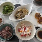 鯖の味噌煮と揚げしゅうまい