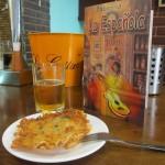 Tortita de camarón(トルティータ・デ・カマロン)スペイン風小エビのかき揚げ?