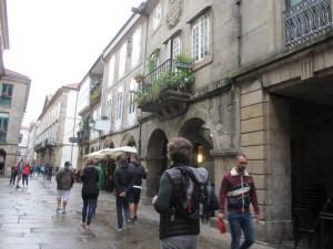 サンティアゴ・デ・コンポステーラの旧市街。