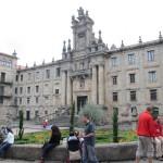 サンティアゴ・デ・コンポステーラのカテドラル裏手の建物。