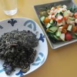 アロス・ネグロ(Arroz Negro)、イカスミのご飯。
