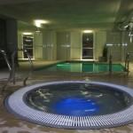 手前はジャグジーで奥が室内温水プール。