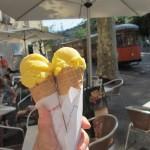Sa Fábrica(サ・ファブリカ)のオレンジアイスクリーム。