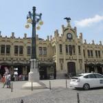 バレンシア北駅。町の中心部にあります。