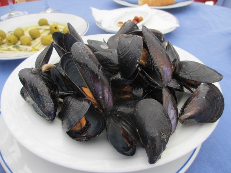 Clochina(クロチナ)と呼ばれる小粒ムール貝。美味!