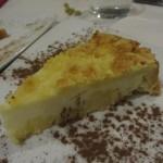 リコッタチーズのケーキ。これはふつう。