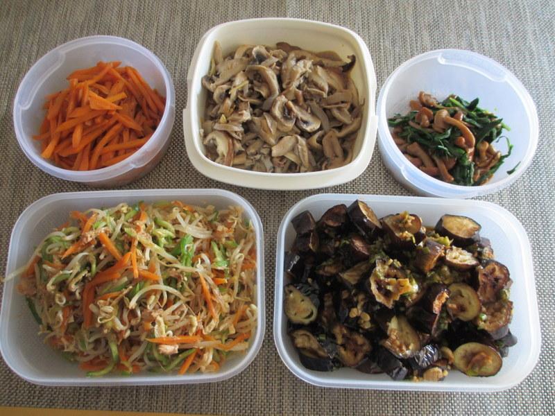 常備菜の一例。