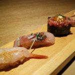 メニューのお寿司。アップグレード版。