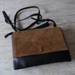 ZARAのレザーとスウェードのコンビネーションが可愛いバッグ。