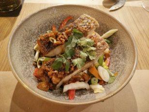 広東風の蒸した魚。