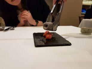 大トロのあぶり寿司。