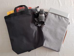 COSのメンズバッグパック。ナイロン製です。