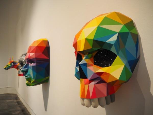 「Okuda San Miguel」のアート展。