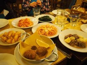 「Trattoria Priscilla」で食べたイタリア・ローマの家庭料理。