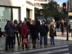 コロナウィルス報道後のバレンシアの街の様子